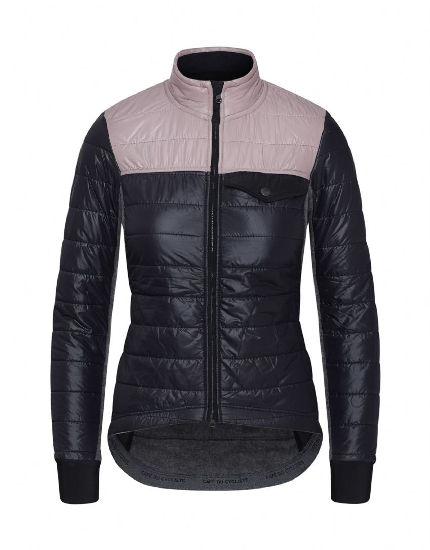 Café Du Cycliste Women's Albertine Jacket - Navy & Dusty Pink